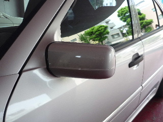 Mercedes-Benz E class 用パーツ 『W210 -99y CHROME DOOR MIRROR COVER』 装着イメージ
