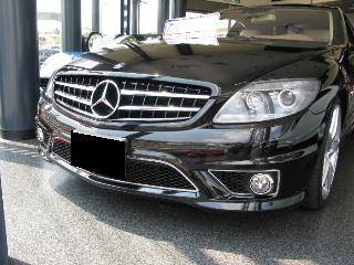 Mercedes-Benz CL class 用パーツ 『W216 CL63 65 GOD HAND フロントリップ』 装着イメージ