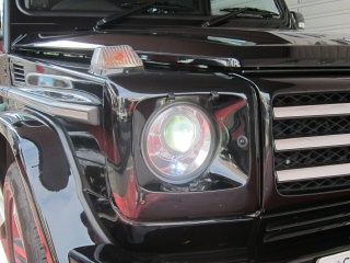 Mercedes-Benz G class 用パーツ 『W463 13yースタイルLED DAY TIME LIGHT with COVER Ver� BK』 装着イメージ