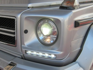 Mercedes-Benz G class 用パーツ 『W463 13yースタイルLED DAY TIME LIGHT with COVER SIL』 装着イメージ