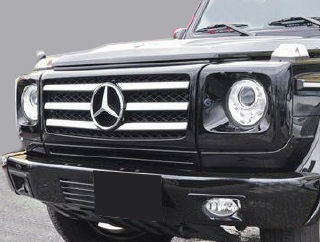 Mercedes-Benz G class 用パーツ 『W463 G55 09y STYLE GRILLE  BK/CH』 装着イメージ