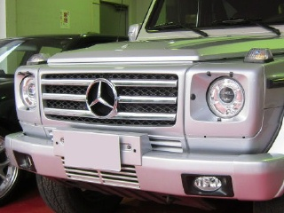 Mercedes-Benz G class 用パーツ 『W463 G55 09y STYLE GRILLE  SIL/CH』 装着イメージ